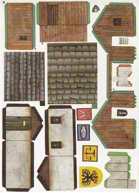 How To Make Paper Models Of Buildings - 17 best images about recortables casas on