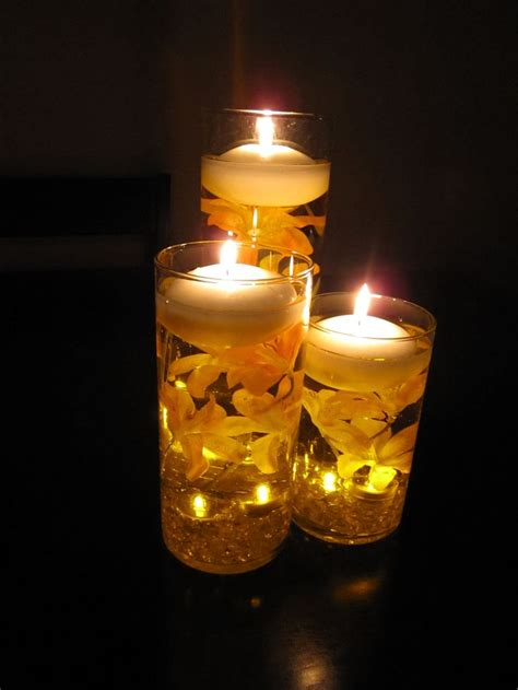 Floating Candles floating candle wedding centerpiece kit orange lilies led