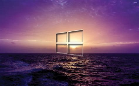 purple wallpaper for windows 10 windows 10 transparent logo on a purple sunset wallpaper