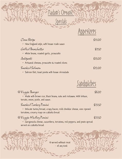 design sles from menupro menu software more than just restaurant menu specials template 28 images 1000 images about