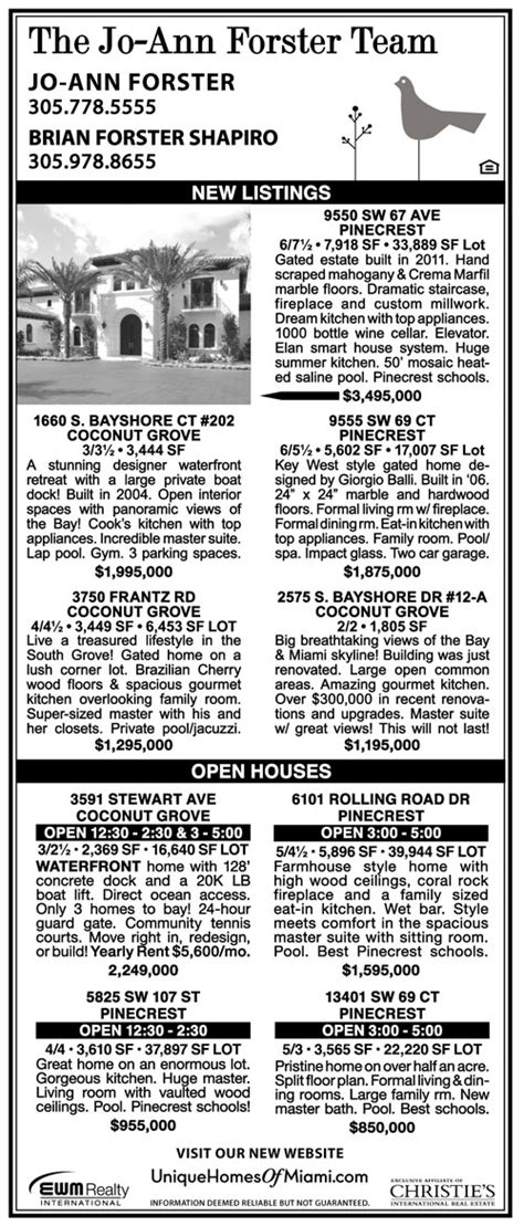 miami herald neighbors section the forster team keeping your informed on your local market