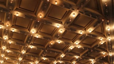 Theater Ceiling Lights Theater Ceiling With Retro Marquee Lights In Downtown 1080p Stock Footage 5228693