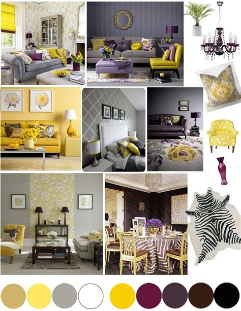 Yellow Gray And Purple Living Room Home Office Ideas Mums Days
