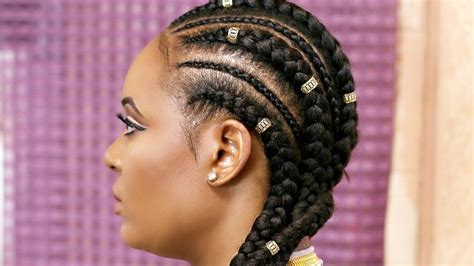 Cornrow Extension Hairstyles | how to cornrow with extensions feed in braids black