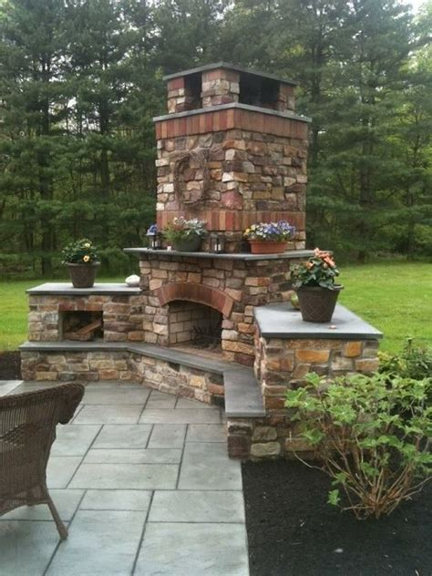 620 best outdoor fireplace pictures images on