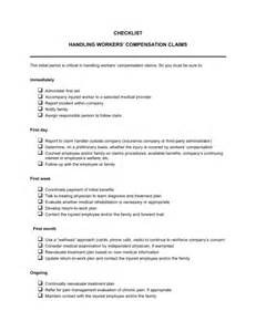 checklist worker s compensation claims template amp sample