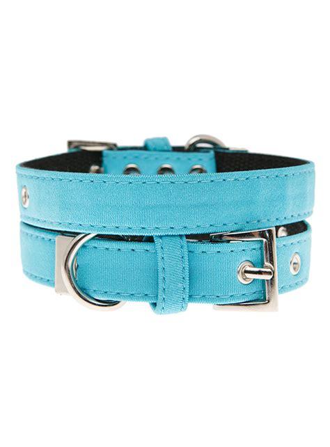 pug collars uk pup neon blue fabric collar i pugs
