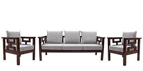 sofa set size buy mariana teak wood sofa set 3 seater 1 seater 1