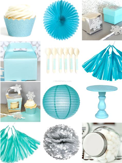 printable party decorations a magical frozen inspired birthday party party ideas