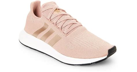 lyst adidas dusty run sneakers in pink