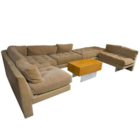 Mid Century Vladmimir Kagan Sectional Sofa And Coffee Sofa And Coffee Table Set