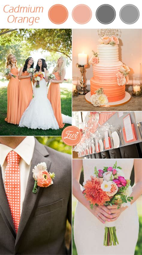 orange wedding colors top 10 pantone wedding colors for fall 2015