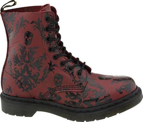 tattoo pattern doc martens new dr doc martens cassidy red black tattoo 1460 boots uk