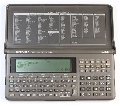 Komputer Sharp sharp pc e500s