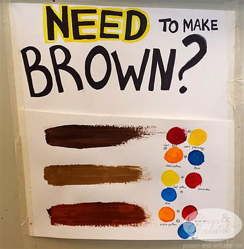 paint colors to make brown posion antidote december 2013