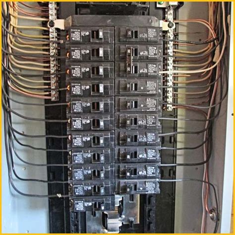 electrical panel wiring electrical service panel upgrade images