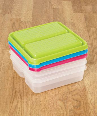 Set Of 3 Food Container set of 3 divided food storage containers ltd commodities