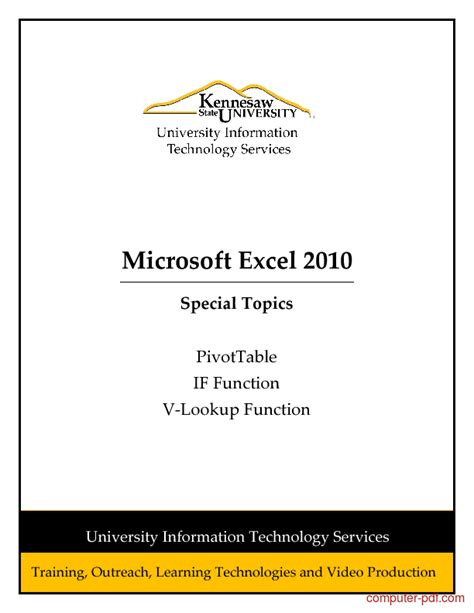excel tutorial 2010 if function pivot table tutorial excel 2010 pdf designer tables