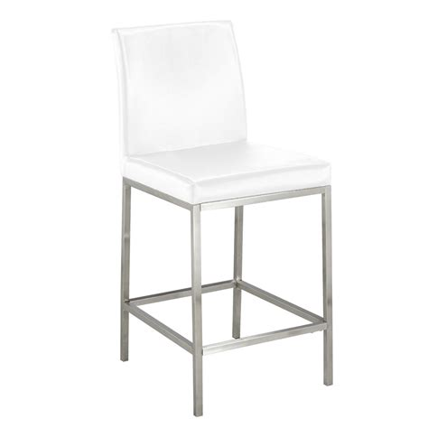 white counter chairs white leatherette counter chair xcella