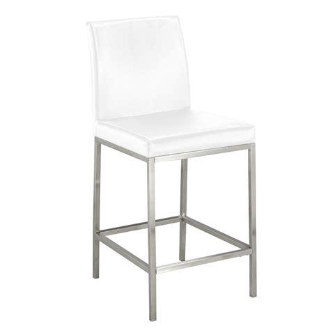havana bar stool havana white leatherette counter chair xcella