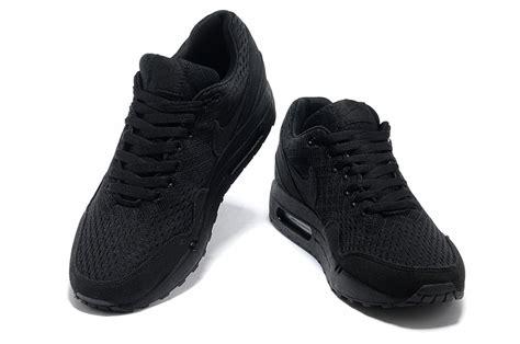 nike air max 1 em allblack running shoes 72 80