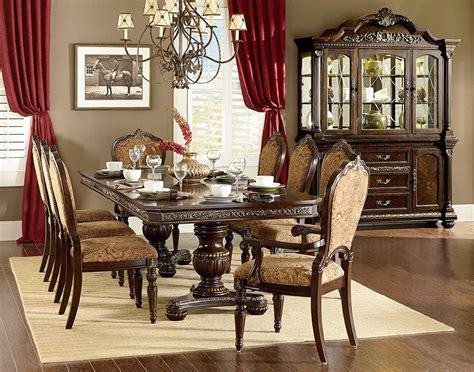 Formal Cherry Dining Room Sets Cleopatra Ornate Traditional Cherry Formal Dining Room Furniture Set