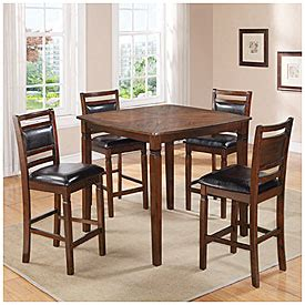 Big Lots Dining Table Set by 5 Wooden Pub Set With Padded Seats Big Lots