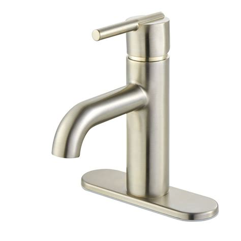 single hole bathroom faucet brushed nickel pfister fullerton brushed nickel 1 handle single hole 4 in