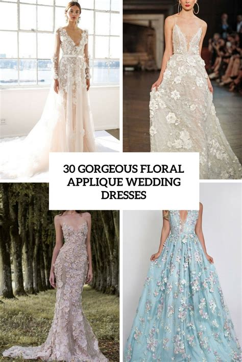 floral applique floral applique wedding dress gown and dress gallery