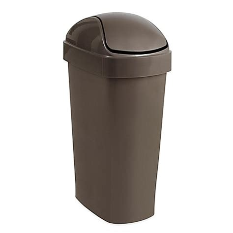 bed bath and beyond trash cans umbra 174 flippa wastebasket bed bath beyond