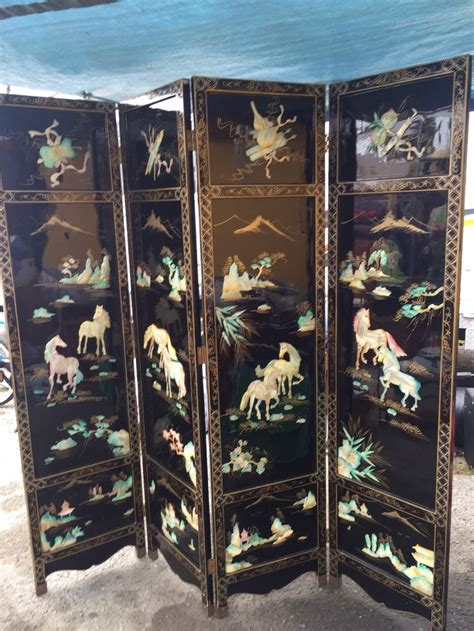 mother  pearl room divider asian decor