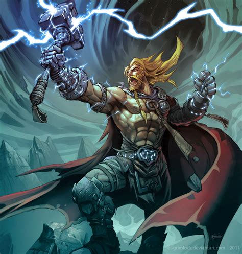 thor god of thunder by el grimlock on deviantart