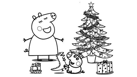 christmas colouring pages peppa pig peppa pig christmas coloring book pages for kids learn