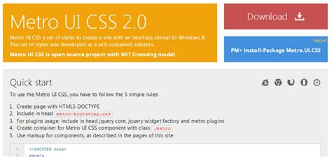 tutorial metro ui css free html web ui kits for websites and apps ewebdesign