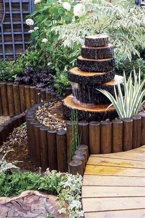 wood backyard build a log or wood slice fountain for backyard amazing diy interior home design