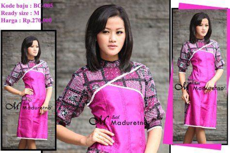 Dress Batik Wanita Ungu dress batik ungu kombinasi polos batik tulis madura