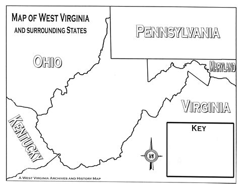 coloring page map of virginia free coloring pages