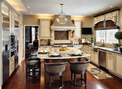 Houzz Kitchen Islands With Seating by What S Cookin In The Kitchen Decorating Den Interiors