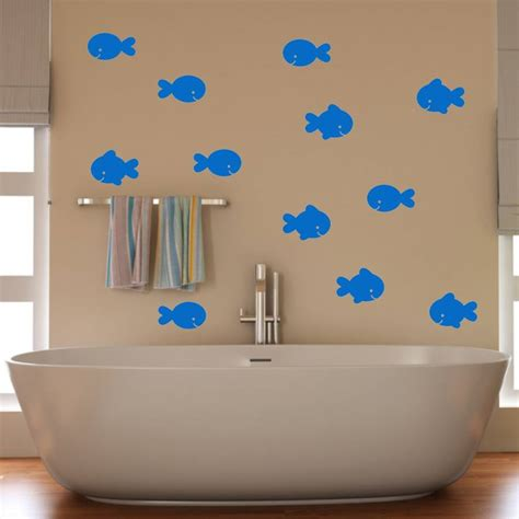 fish wall stickers bathroom fish bathroom wall stickers by mirrorin