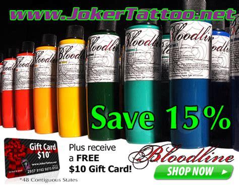 joker tattoo supply coupons bloodline tattoo ink sale at joker tattoo supply joker