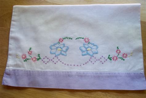 vintage embroidered baby pillow