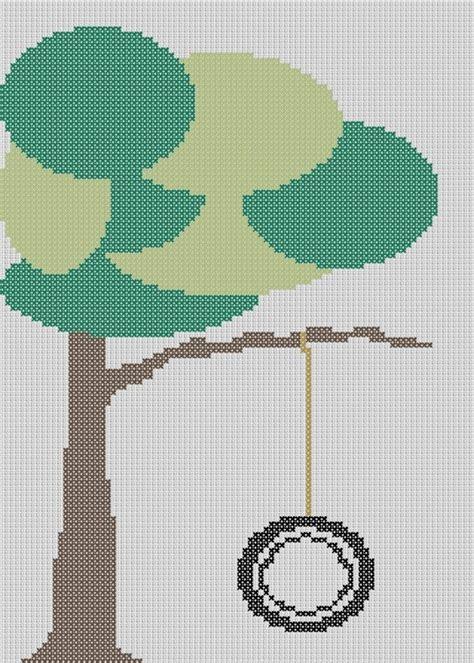 swing design patterns cross stitch tire swing cross stitch pinterest