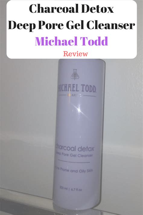 Detox Gel Pore Treatment Directions by Michael Todd Charcoal Detox Pore Gel Cleanser Review