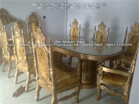 Makan Meja Raja Kuring kursi meja makan ukir jati set raja gendong ud lumintu