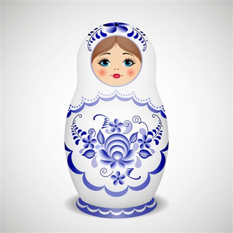 design doll download full cute russian doll design vectors 03 vector other free