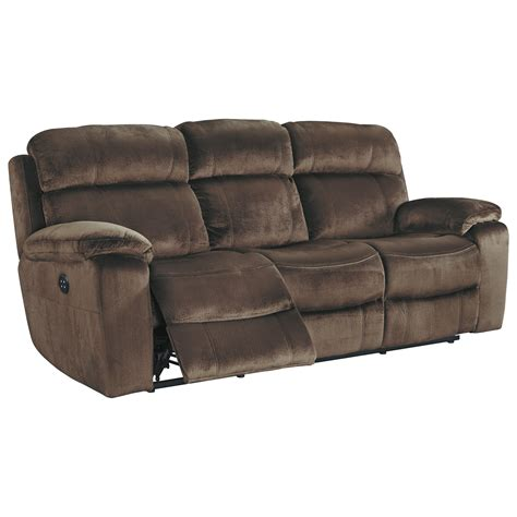 norfolk power reclining loveseat wconsole signature design uhland 6480315 contemporary power