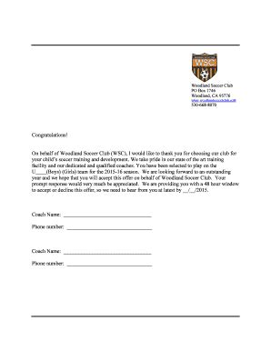 Release Letter From Soccer Club Release Letter From Soccer Club Fill Printable Fillable Blank Pdffiller