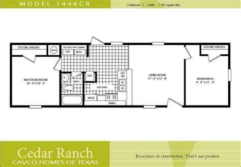 2 bedroom home 2 bedroom manufactured home plans