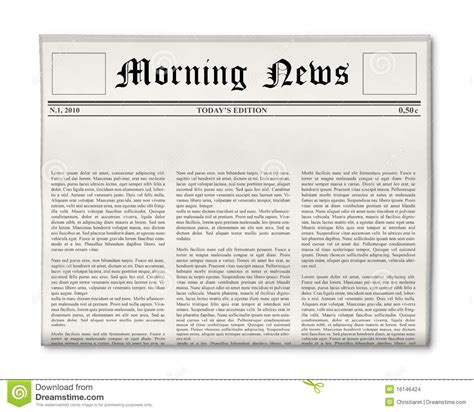 newspaper headline template stock images image 16146424