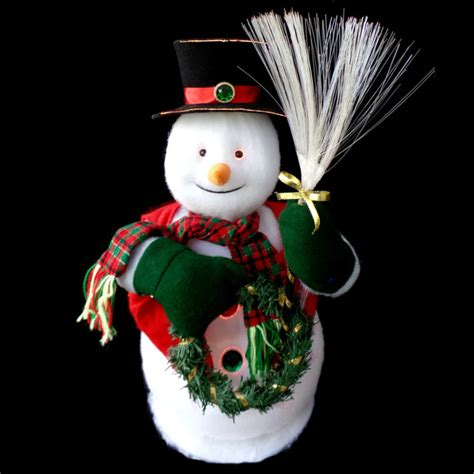 animated fibre optic snowman fiber optic snowman shop collectibles daily